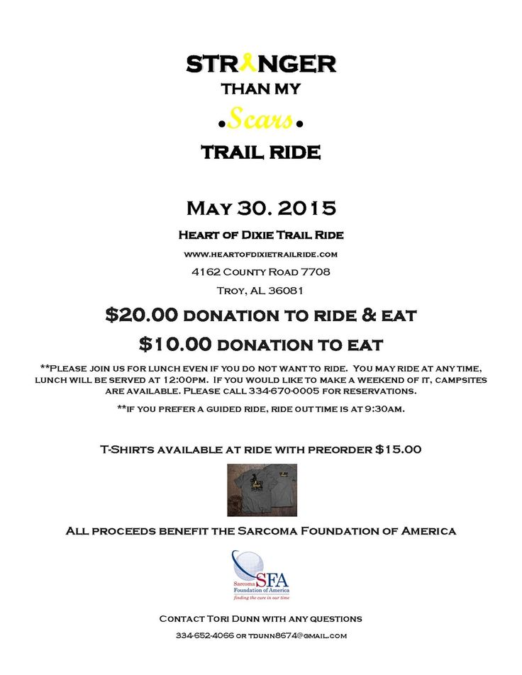 Stronger Than My Scars: Trail Ride - May 30, 2015, Troy, Alabama #sarcoma
