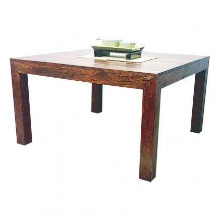 le style contemporain de cette table carre en palissandre zen ne vous chappera pas vous