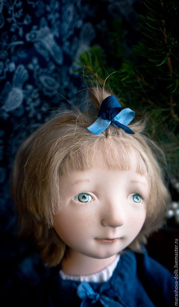 Купить Дочь моряка - синий, болтушка, авторская ручная работа, авторская кукла, любить и жаловать