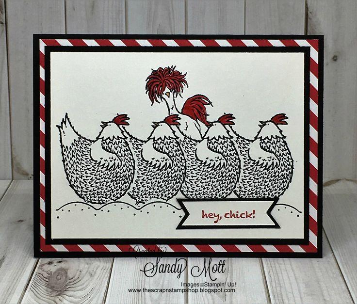 Hey Chick - Creative Inking Blog Hop - created by Sandy Mott