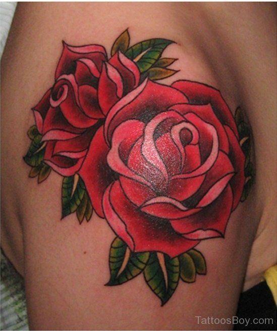 Category: Flower Tattoos Rose Tattoos Shoulder Tattoos
