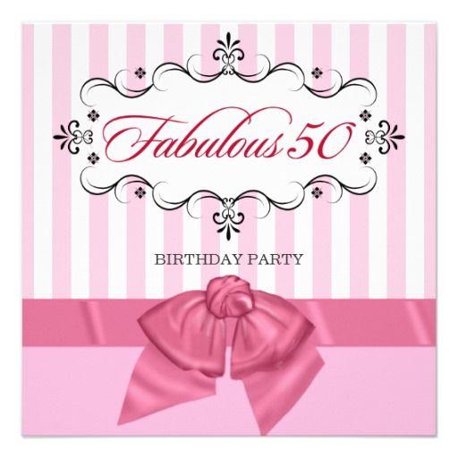 21 Fabulous Wedding Photo Display Ideas Reception: Fabulous 50 - Custom Birthday Party Invitations