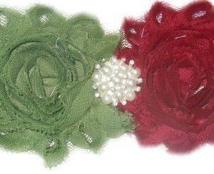 Baby Headband Twin Flower R50 ww.babyheadbands.co.za www.mybabyheadbands.com