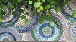 Pretty Mosaic Stepping Stones for a Garden