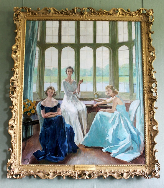 A painting of Lady Baillie and her daughters by Etienne Drain.  Lady Baillie was the last private owner of Leeds Castle. She lovingly restored the castle and ensured that after her death the castle, managed by the Leeds Castle Foundation, should be enjoyed by visitors from all over the world.