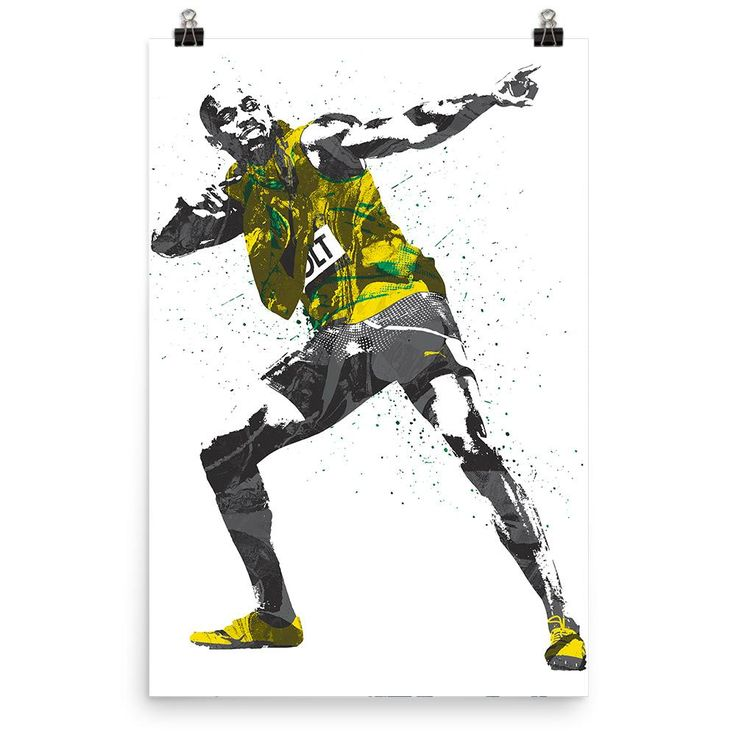 Usain Bolt Jamaica Track and Field Poster