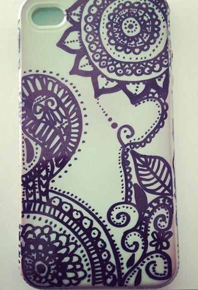 2-step DIY sharpie phone case makeover :) sharpie + krylon clear spray