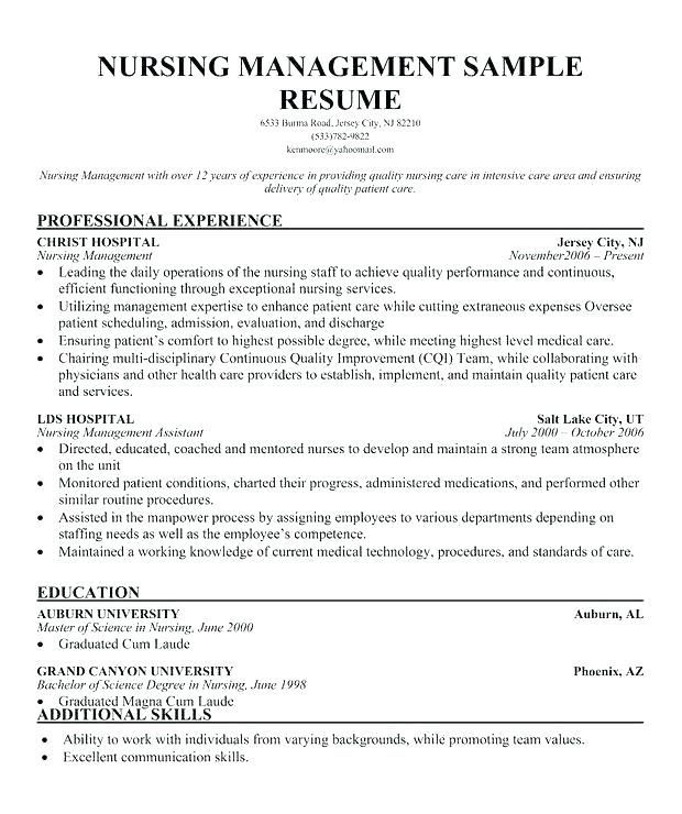 Nurse Manager Resume Examples Manager Resume Nursing Resume Sample Resume Resume Nurse Manager Resume Examples Cover Letter For Resume