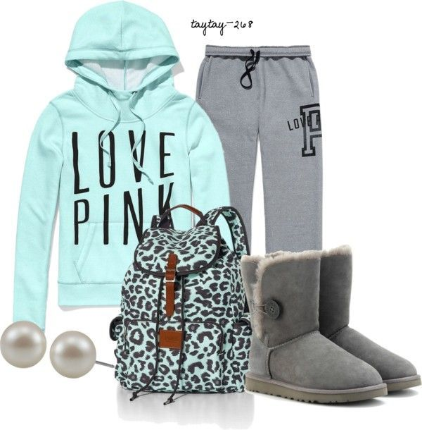 """""""Mint for You Pj's"""" by taytay-268 on Polyvore #victoriassecret #pink"""