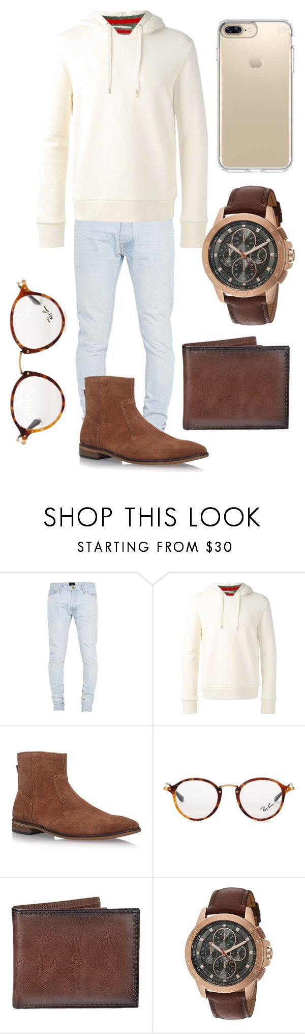 """""""Lorenzo"""" by vejacomotenpovoa ❤ liked on Polyvore featuring Fear of God, Gucci, KG Kurt Geiger, Ray-Ban, Croft & Barrow, Michael Kors, Speck, men's fashion and menswear"""