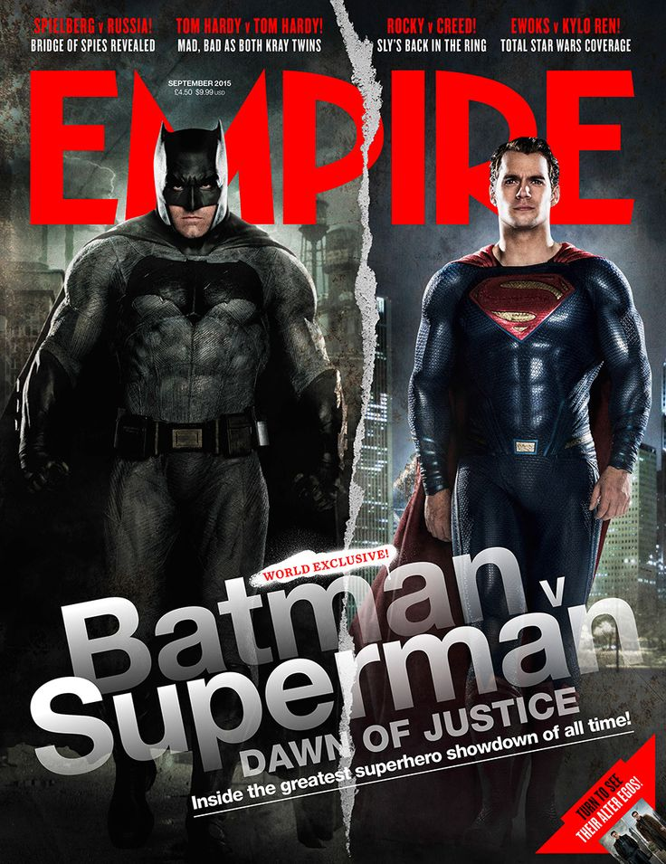 Batman v Superman: Dawn Of Justice on the cover of Empire<br />