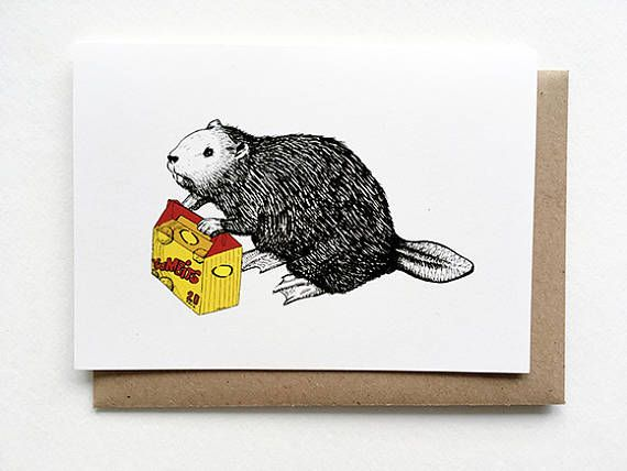 Thinking of you Card  Beaver with Yumbits Funny Birthday