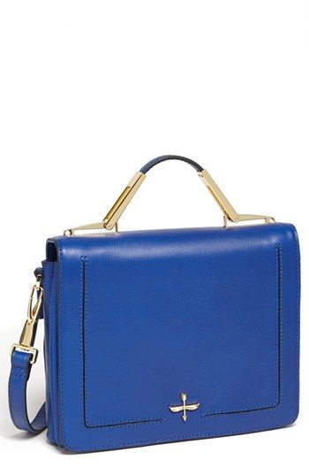 Pour la Victoire 'Adelle' Satchel available at #Nordstrom  Structured ladybag in cobalt.  Elegant and refined -- even with jeans!