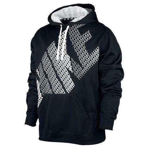 Men's Nike KO Block Pullover Hoodie| FinishLine.com | Black/White