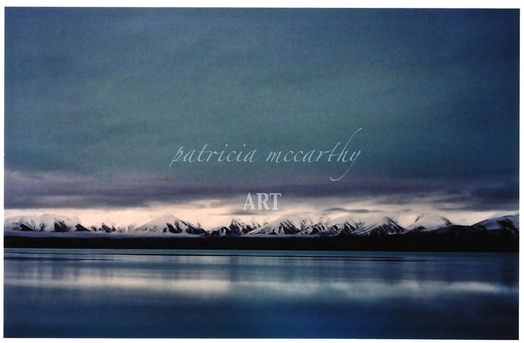 Snowy Peaks.   #patriciamccarthyart.  www.artstack.com.  #snow.  #lake.  #blueandwhite.  #photography.   #winter