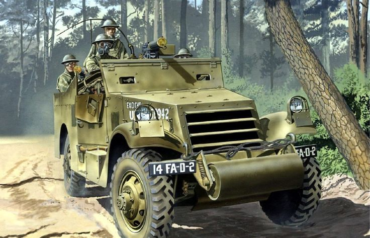 Pinturas de tanques: Segunda Guerra Mundial — 1941 US scout car - Don Greer