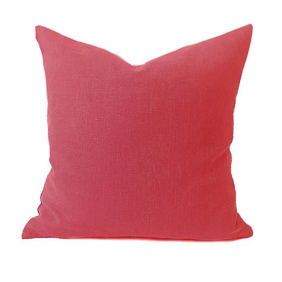 Plain Linen Cushion Red Cushion Plain Cushion Bright Red