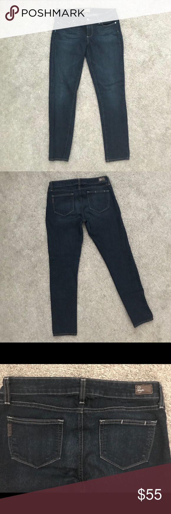 """Women's Paige skinny jeans Dark wash Peg skinny fit 28.5"""" inseam 5"""" ankle opening Paige Jeans Jeans Skinny"""
