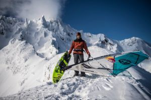 Alpine Windsurfing aka windsurfing mountains is unveiled by Red Bull extreme freerider Levi Siver whose film projects include The Windsurfing Movie II.