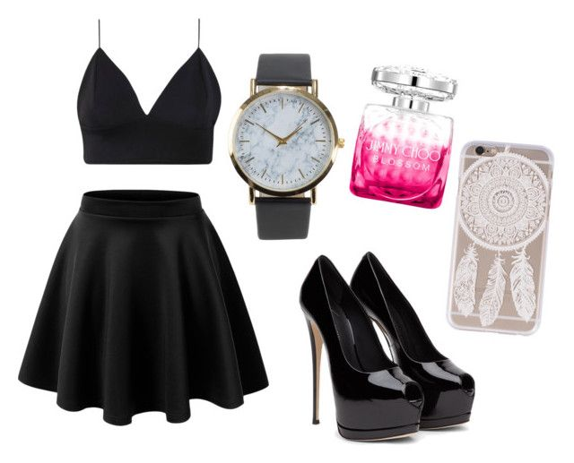 Untitled #92 by omgispolyvore on Polyvore featuring moda, LE3NO, NLY Accessories and Jimmy Choo