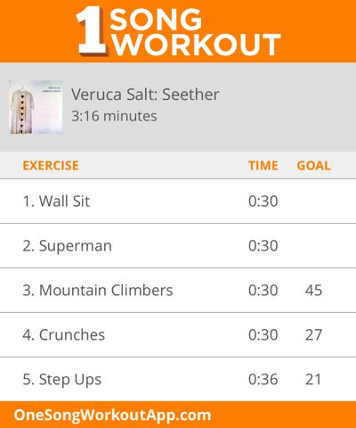 One Song Workout for Veruca Salt's Seether