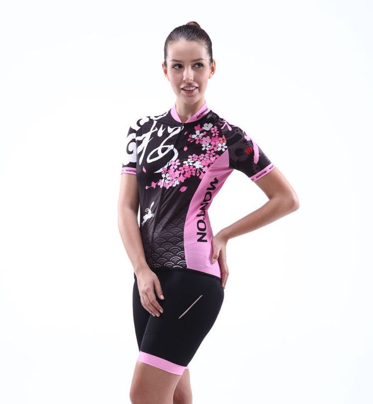 2013 New Women Cycling Outfit Bicycle Bike Short Sleeve Jersey + Shorts S-2XL