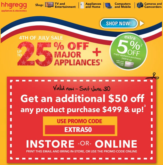 For hhgregg we currently have 4 coupons and 0 deals. Our users can save with our coupons on average about $ Todays best offer is Today Only! 15% Off Orders Over $ If you can't find a coupon or a deal for you product then sign up for alerts and you will .
