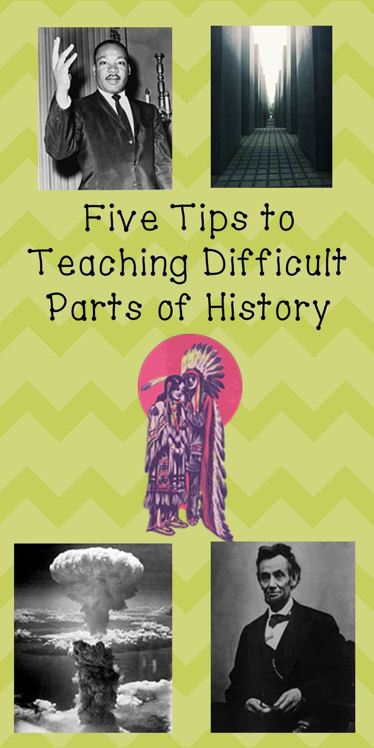 Learn five tips to help teach difficult parts of history to your students.