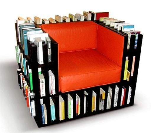 Book chair! Just another reason not to stand up and instead continue reading.