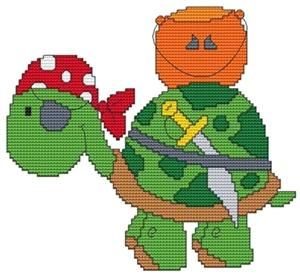 October Turtle Cross Stitch Pattern (CSW0010) Embroidery Patterns by Cross Stitch Wonders