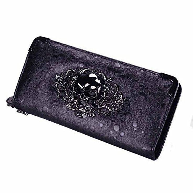 Sannysis Women Skull Raindrops Purse Long Wallet Card Holder Handbags