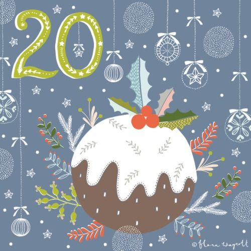Flora Waycott Christmas Advent 2014 DAY 20 - A delicious Christmas pudding! xx
