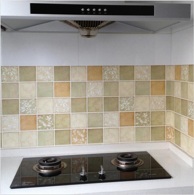best price diy self stick waterproof bathroom mosaic wall sticker 50x50cm kitchen oil proof ceramic stickers #oil #sticks
