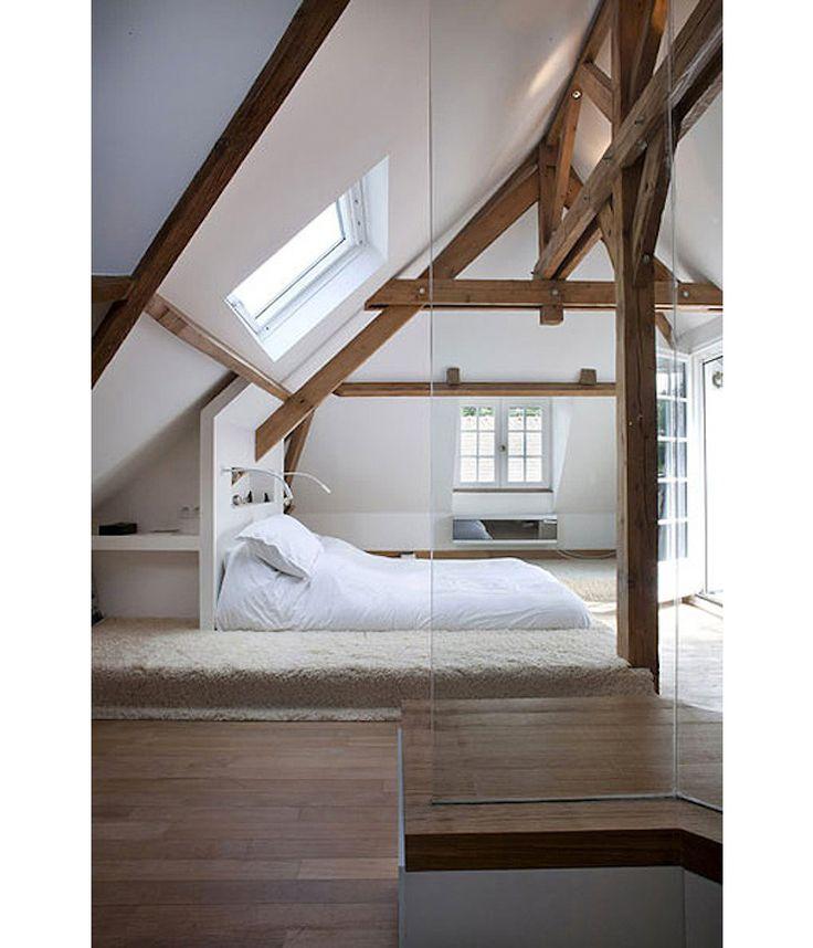25 beste idee n over plafonds met houten balken op pinterest - Verf een houten plafond ...