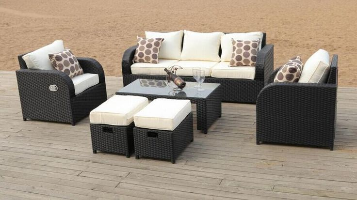 Rattan garden furniture chairs dining set outdoor patio conservatory | Rattan garden furniture sets Rattan garden furniture and Garden furniture sets : rattan reclining garden chairs - islam-shia.org