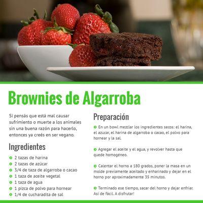 Ser Vegano :: Brownies de Algarroba