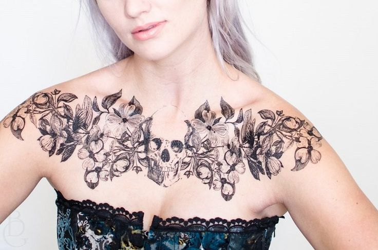 tatuajes de calaveras mujer