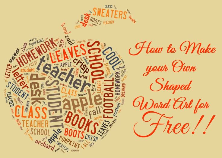 How to Make your Own Shaped Word Art for Free: I tried this site tonight and I am MADLY IN LOVE. I am going to be overrun with Word Clouds!