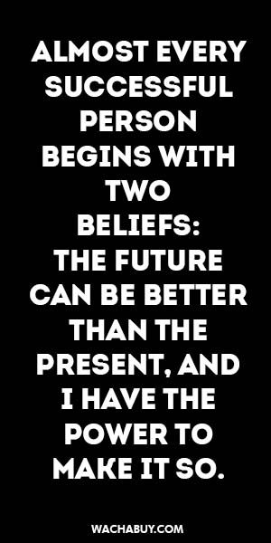 #inspitation #quote / ALMOST EVERY SUCCESSFUL PERSON BEGINS WITH TWO  BELIEFS…