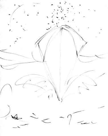 REX  drawing by Federico Fellini
