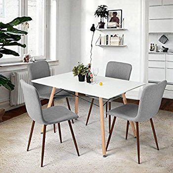 P  N Homewares® Lorenzo Esstisch und 4 Stühle Set Retro und