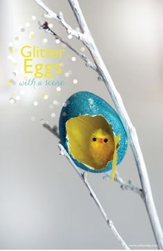 Easter Eggs | Glitter scene eggs | willowday