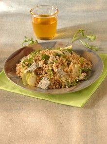 Farro, rucola e pere con gorgonzola e miele