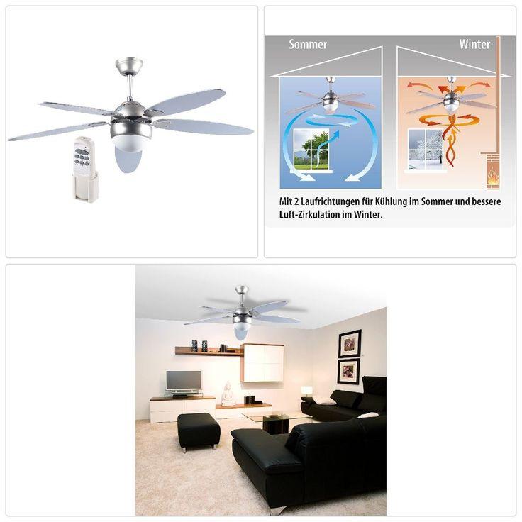 Details Zu Haushaltsgeräte Ventilatoren: Großer Deckenventilator  Holzflügeln, Licht, Fer