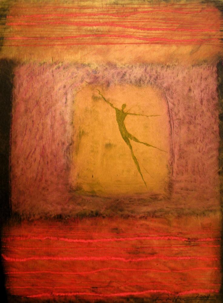 Åse Margrethe Hansen/I det røde rommet, 2008. Oil pastel on paper