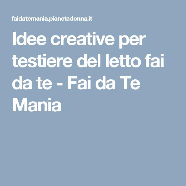 1000+ idee su Testiere Fai Da Te su Pinterest  Testiere, Testata del letto in legno e Testiera ...