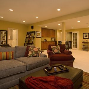 107 best images about basement design ideas on pinterest Basement ceiling color ideas