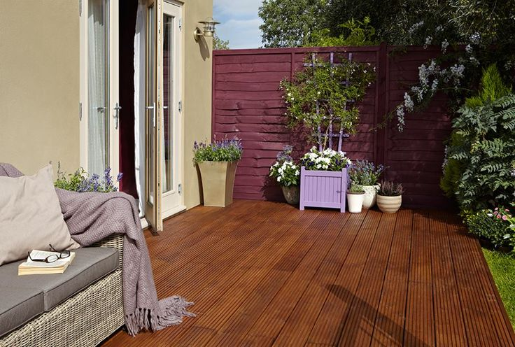 cuprinol rich berry and lavender enriching the the outside. Black Bedroom Furniture Sets. Home Design Ideas