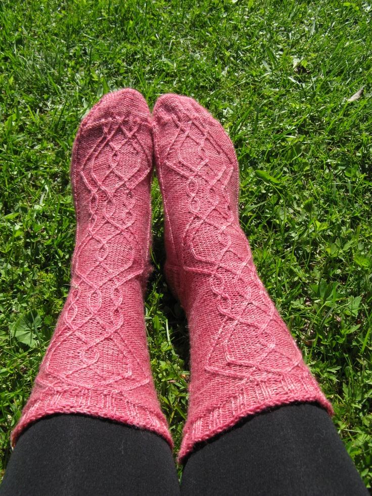 Charlotta toinen socks from Kirsikka-aika, designed by me.