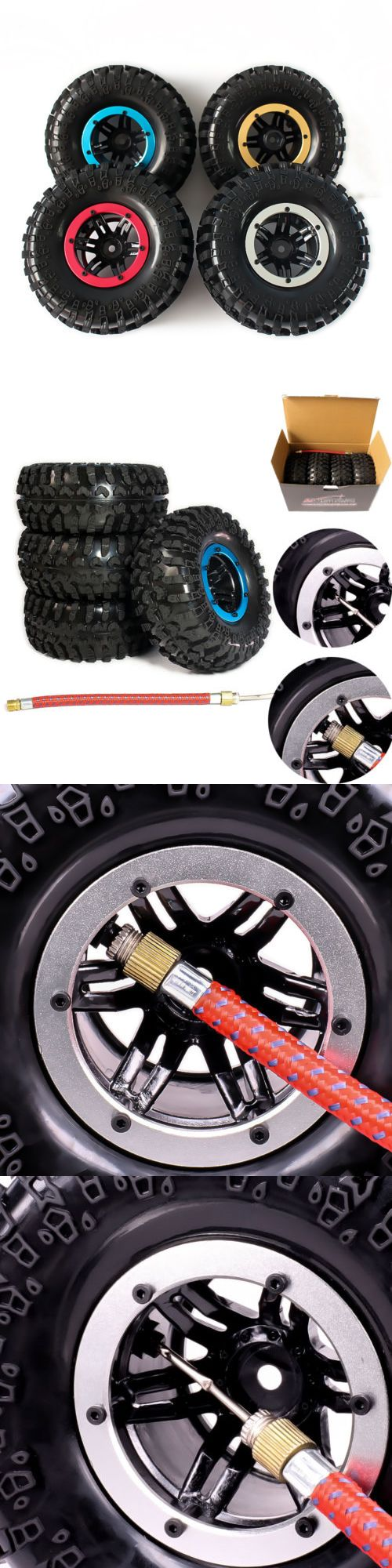 Radio Control 51029: 4Pcs 2.2 Inflatable Tires W Alloy Beadlock Wheels For 1 10 Rc Crawler Car New -> BUY IT NOW ONLY: $37.88 on eBay!